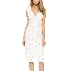 Saylor autumn white lace dress